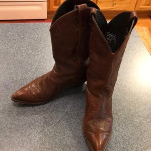Code West Brown leather cowgirl boots